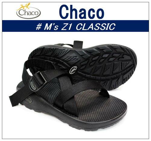 """-# M's Z1 CLASSIC """"Black""""/メンズZ1クラシックサンダル """"ブラック"""""""