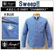 【送料無料】【Sweep!!/スウィープ】-B.DL/SSHIRTCHAMBRAY-BLUE-【smtb-m】