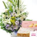 【あす楽】お供え花とスイーツのセット旬のお供えアレンジメント