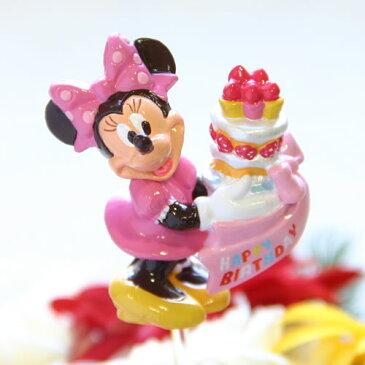 【フラワーギフト用オプション】ディズニー(Desney)キャラクターのバースデー・ピック/ミニー【誕生日(バースデイ)のお祝いに|誕生日プレゼント(バースデープレゼントに|パーティーのお花に|出産祝いに|サプライズに】