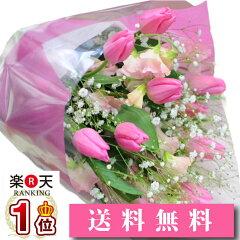 【春の花束】チューリップ スイートピー 花束 セット 誕生日 送料無料 チューリップの花束 誕…