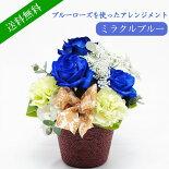 神秘的な青いバラを使った、お手頃価格のアレンジメント