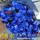 誕生日 結婚記念日 プロポーズ 花束 青いバラ30本の花束 ブルーローズ ベンデラ 薔薇 送料無料 宅配 配送 お祝 ギフト プレゼント 送別会 退職祝い