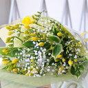 フリージア カスミ草 ブーケ Mサイズ 花束 生花 誕生日 プレゼント 送料無料…