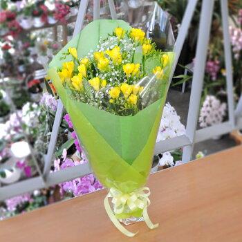 フリージアの花束フリージア花束Mサイズ誕生日プレゼント送料無料花ギフト卒業卒園退職ホワイトデー即日発送記念日花贈るあす楽フラワーギフトお祝い御祝い