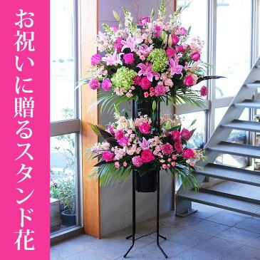お祝い用スタンド花【フラワーギフトエーデルワイス花の贈り物】 【楽ギフ_メッセ入力】誕生日プレゼント