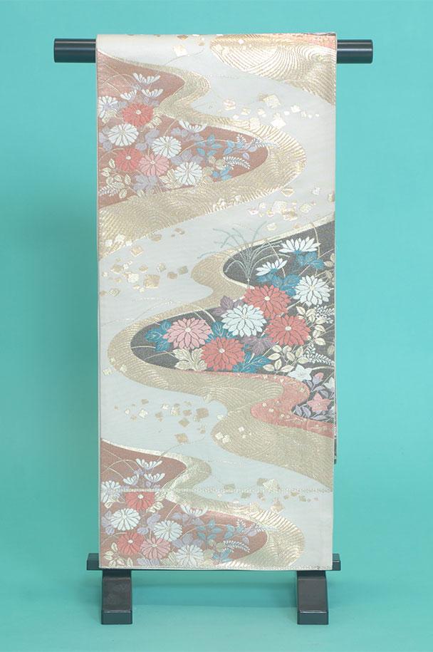 留袖訪問着レンタルフルセット用帯:obi002〔留袖〕〔訪問着〕〔帯〕〔袋帯〕〔正絹〕【レンタル】