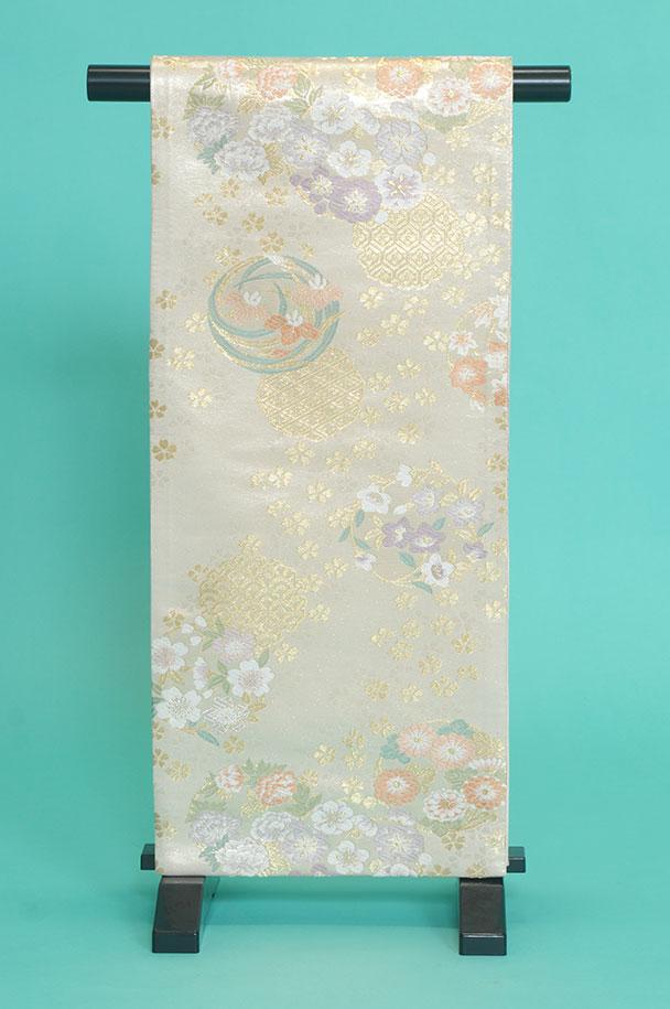 留袖訪問着レンタルフルセット用帯:obi013〔帯〕〔袋帯〕〔正絹〕〔留袖〕〔訪問着〕【レンタル】