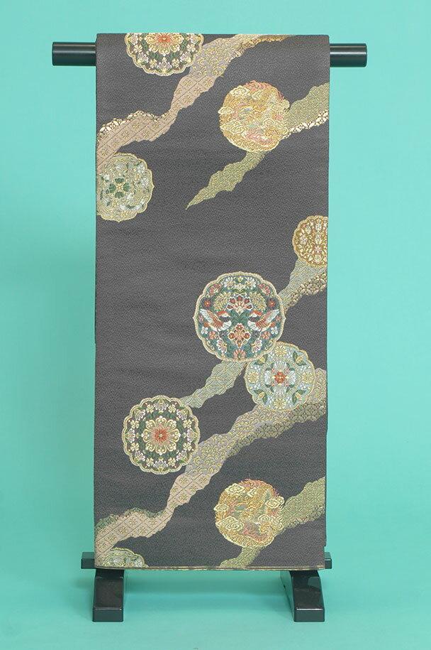 留袖訪問着レンタルフルセット用帯:obi028 〔帯〕〔袋帯〕〔正絹〕〔留袖〕〔訪問着〕【レンタル】