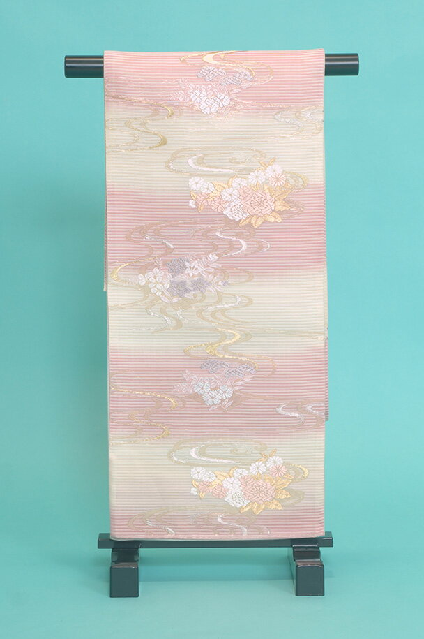留袖訪問着レンタルフルセット用帯(夏物):obi069 〔帯〕〔袋帯〕〔正絹〕〔留袖〕〔訪問着〕【レンタル】