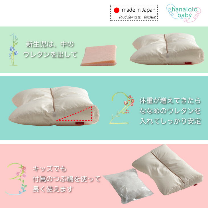 タキコウ縫製hanalolo『ベビーまくらpono(hb0008)』