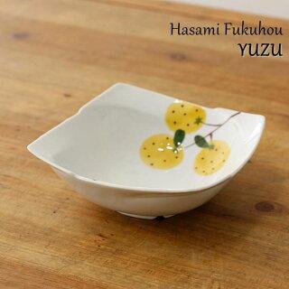 波佐見焼 角鉢 手描き柚子