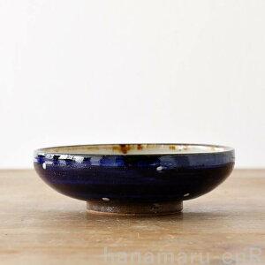 やちむん 浅鉢 やちむん工房 5寸鉢 白点打 ドット   皿 食器 沖縄陶器 焼き物 作家