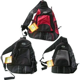 One shoulder back black, gray, Red