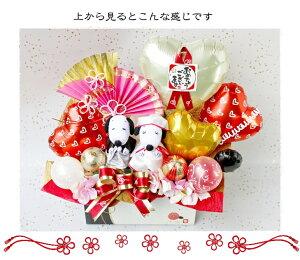 送料無料!スヌーピー/ウェディングドール/幸せ運ぶバルーン電報/バルーン&フラワーギフト/造花アレンジメント