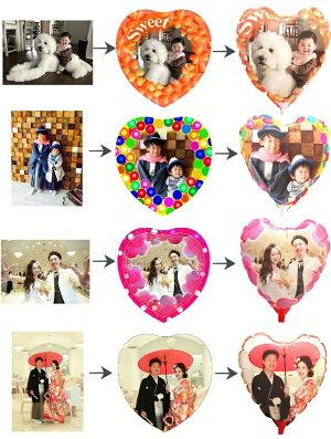 送料無料!お好きな写真がバルーンに!フォトバルーン電報/誕生日発表会結婚式開店記念日/造花バルーンフラワーギフト