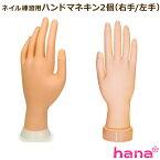 【訳あり】ネイル練習用ハンドマネキン2個(右手/左手)/チップ差し込み式