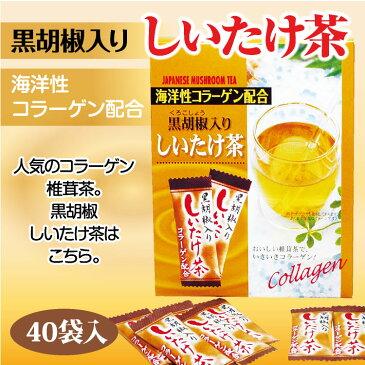 海洋性コラーゲン配合黒胡椒入りしいたけ茶 40袋 【販売/通販】【通販】【お土産】