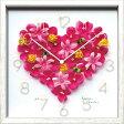 掛け時計 結婚祝いディスプレイクロック/ピンクハートインテリア 【楽ギフ_包装】
