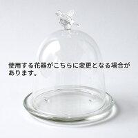 ドームアレンジ「すみれ」/お悔み・お供え/プリザーブドフラワーギフト