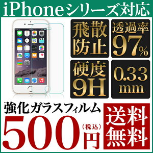 送料無料 強化ガラス 保護フィルム iPhone6 iPhone6 Plus iPhone5s iPhone5 iPhone5c iPhone4s iPhone4 液晶保護フィルム 画面保護フィルム スマホ