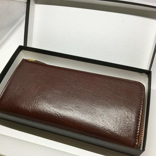 送料無料本革イタリーレザー牛革L字ファスナー長財布金運財布レディース金運財布メンズ両方使える七福神護符カード・古いお財布を清めるキット付きお財布の使い始めが分かる案内表付