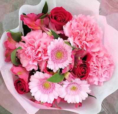 花束 送料無料 カラーセレクトブーケ ピンク系 誕生日 プレゼント ギフト 花 フラワー
