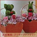 【送料無料】ハートのモスアニマルクマさんウサギさん<ピンクハート>