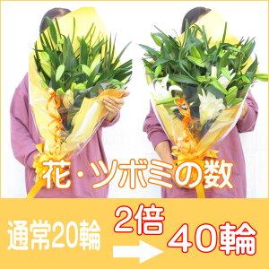 誕生日花カサブランカ花束長さ約70cm約20輪