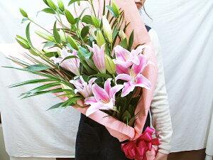 ユリの花束を誕生日