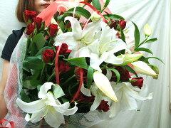 カサブランカ 花ギフト 花束 誕生日プレゼント 女性 フラワーギフト ユリ 花束 ゆり お祝い お...
