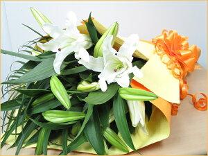 ゆりのカサブランカ花束