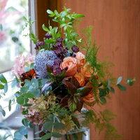 誕生日お祝開店祝いお祝い花花束プレゼントバラピオニーマムアジサイユーカリ大きなピオニーマムが印象的な豪華ブーケ送料無料札無料メッセージカード無料