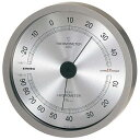 EMPEX 温度・湿度計 スーパーEX高品質 温度・湿度計 壁掛用 EX-2727 メタリックグレー