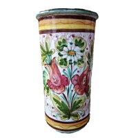 【イタリア製】【イタリア製】陶器かさ立てストレート花柄