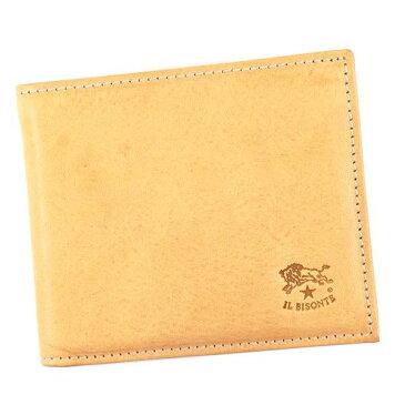 IL BISONTE(イルビゾンテ) 二つ折り財布(小銭入れ付) C0817 120 NATURAL