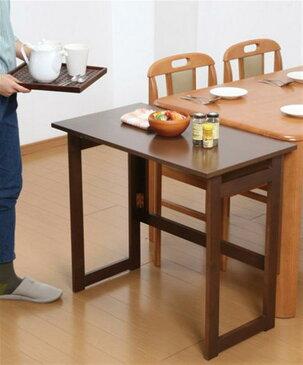 木製折りたたみテーブル高さ55cm ナチュラル