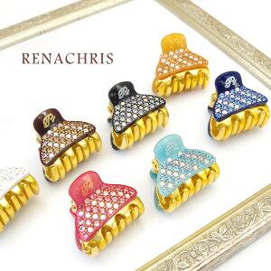 【全6色】RenaChris★パヴェスワロフスキーのMINIバンスヘアクリップ【メール便不可】hai030