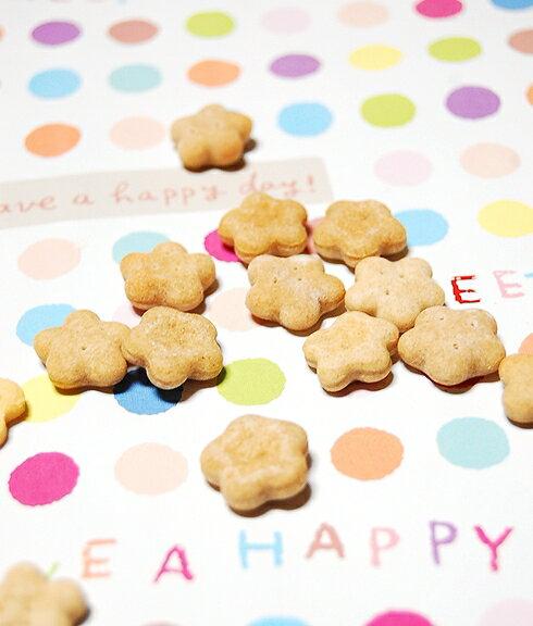[プチシリーズ]全粒粉のお花クッキー