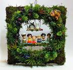 フラワーアレンジ ギフト トトロ「ようこそトトロの森へ」みんなでお迎え(壁掛けタイプ) 【光触媒加工】トトログッズ ジブリ