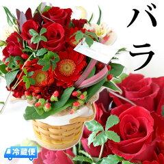 送料無料 選べる7色♪ナチュラル可愛いバラと季節の生花アレンジメント 花 ギフト 誕生日プレゼ…