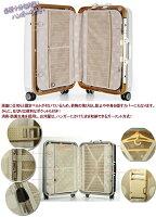 フレーム式スーツケース・中型・Mサイズ・TSAロック搭載・旅行かばん・キャリーバッグ・1年保証付き