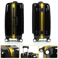 フレーム式スーツケース中型・Mサイズ・TSAロック搭載・旅行かばん・キャリーバッグ・1年保証付きアウトレット9001M