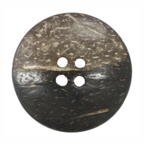 ココナッツボタン 球面 表穴4つ穴 11.5mm ネコポス可 bel 手芸の山久