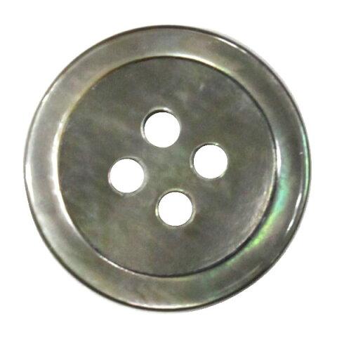 貝ボタン 4穴 11.5mm 黒蝶 シェルボタン ネコポス可 bel 手芸の山久