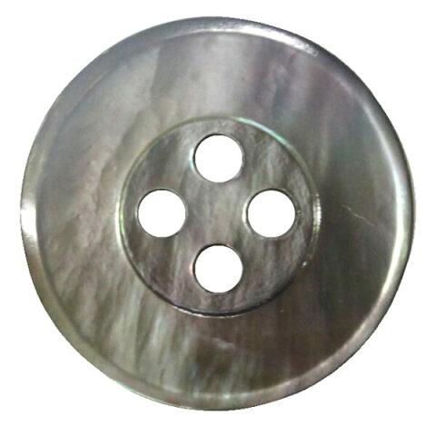貝ボタン 幅広ふち 4穴 11.5mm 黒蝶 シェルボタン ネコポス可 bel 手芸の山久