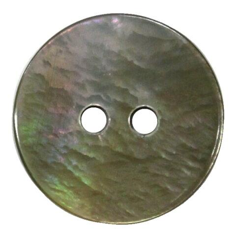 貝ボタン ふちなし 2穴 11.5mm 黒蝶 シェルボタン ネコポス可 bel 手芸の山久