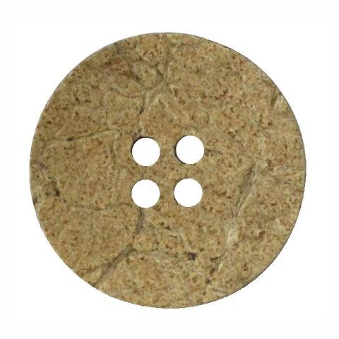 ココナッツボタン ふちなし 表穴4つ穴 18mm ネコポス可 bel 手芸の山久