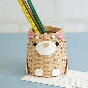 夏休み工作子供手芸キット柴犬のペン立てhamaハマナカ手芸の山久