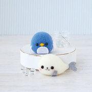 ハマナカH441-415あざらし&ペンギンアクレーヌフェルト羊毛手芸キットwfk
